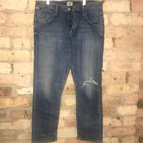 Citizens Of Humanity Denim - Citizens of humanity faded slim boyfriend jeans